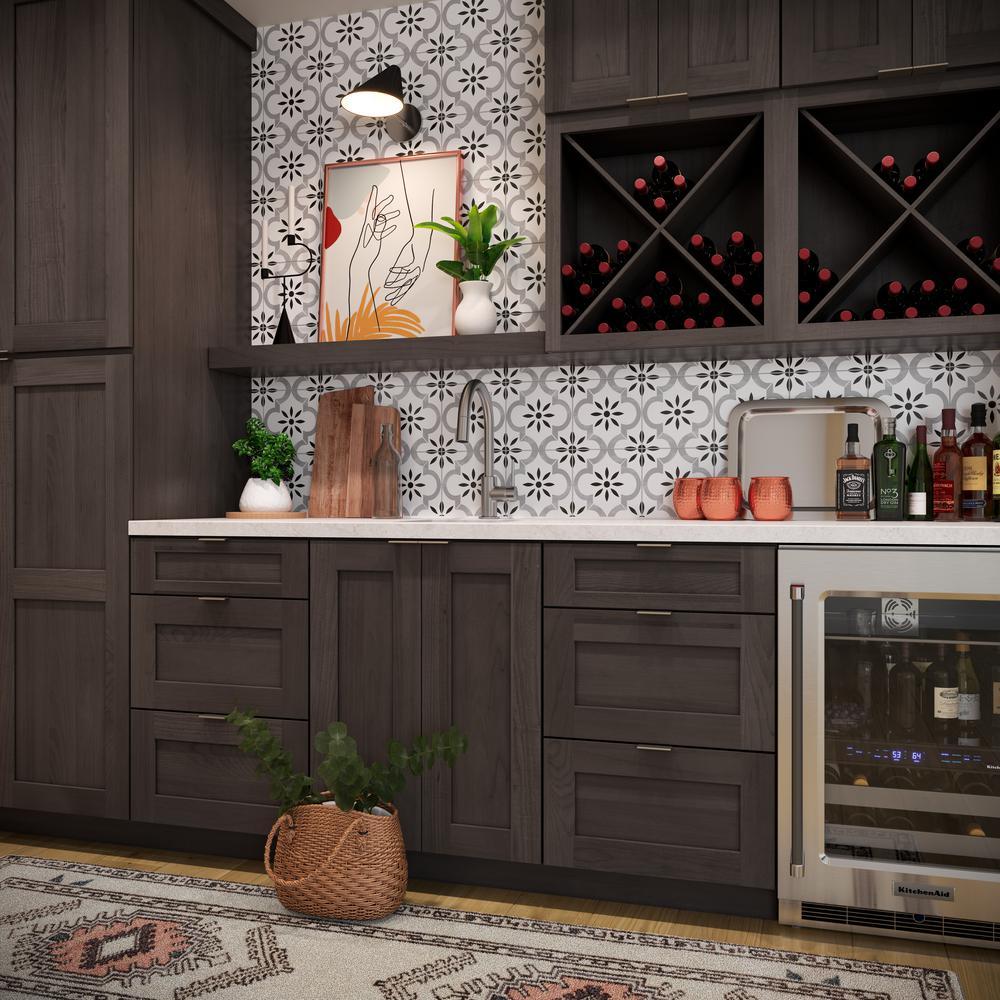 American Woodmark Reading 14 9 16 X 14 1 2 In Cabinet Door Sample In Slate 97343 The Home Depot