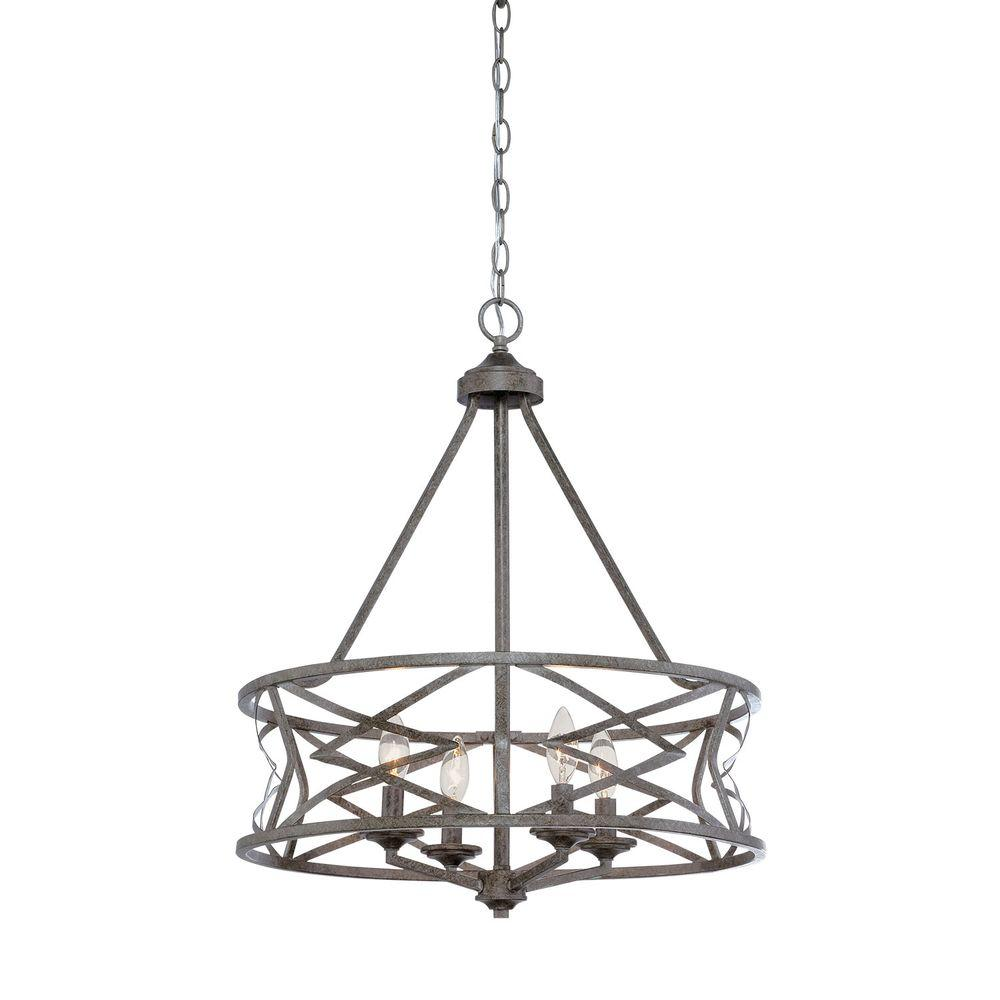 Pewter drum chandeliers lighting the home depot 4 light vintage antique silver chandelier arubaitofo Choice Image