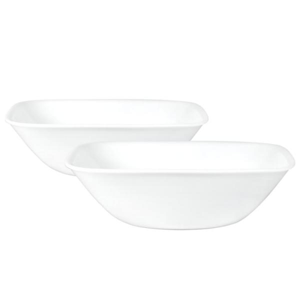 Square 32-Oz Bowl Pure White (2-Pack)