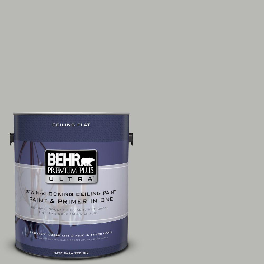 BEHR Premium Plus Ultra 1 gal. No. UL 260-18 Ceiling Tinted to Classic Silver Interior Paint and Primer in One