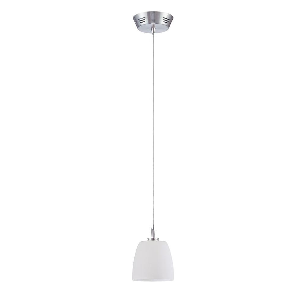 Cassiopeia 1-Light Satin Nickel Incandescent Ceiling Pendant