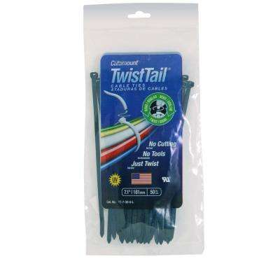 7 in. Cable Tie, Black (Case of 20 Bags / 50 Ties per Bag)