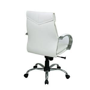 Pro-Line II White Leather Mid Back Executive Office Chair-7271 ...