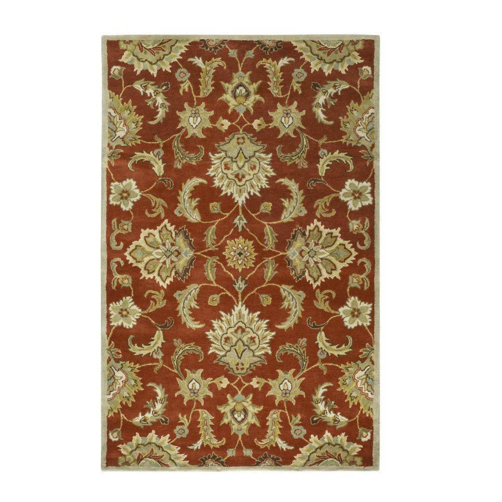 Home Decorators Collection Empress Red 9 ft. 9 in. x 13 ft. 9 in. Area Rug