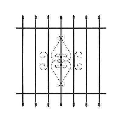 42 in. x 42 in. Su Casa Black 7-Bar Window Guard