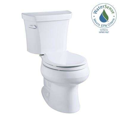 Wellworth 2-piece 1.1 or 1.6 GPF Dual Flush Elongated Toilet in White