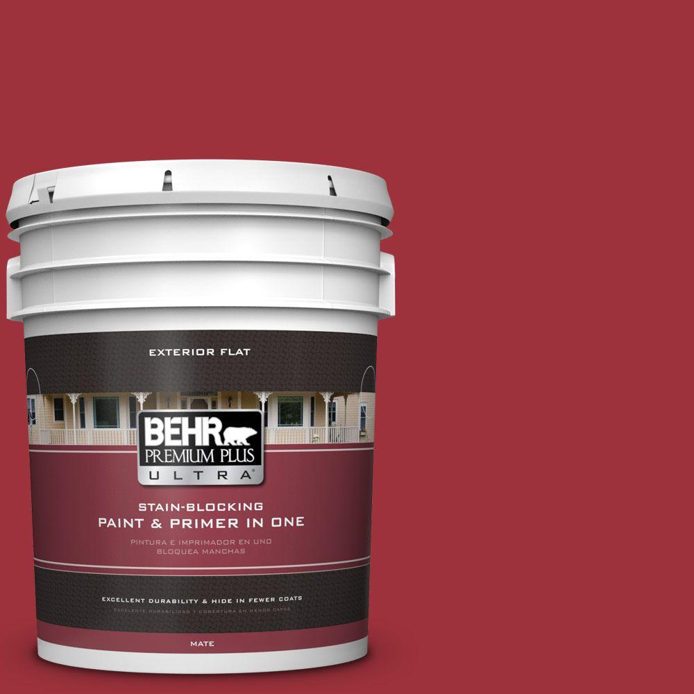 BEHR Premium Plus Ultra 5-gal. #S-G-150 Ruby Ring Flat Exterior Paint