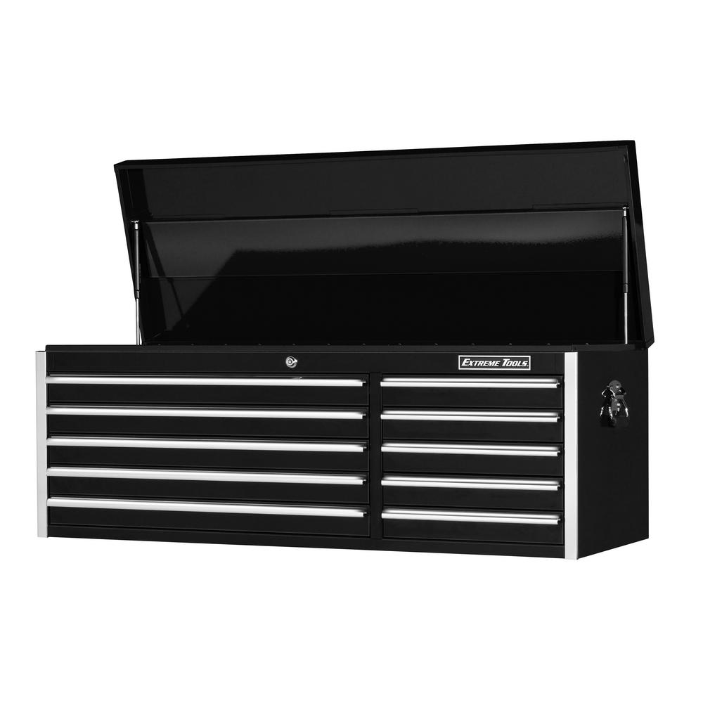 EX Standard Series 56 in. 10-Drawer Top Chest, Black