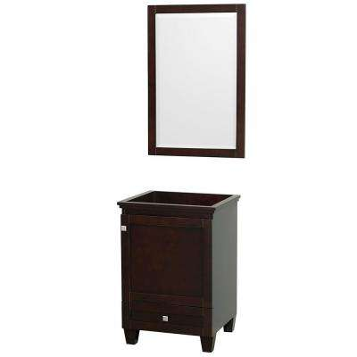 Acclaim 24 in. Vanity Cabinet with Mirror in Espresso