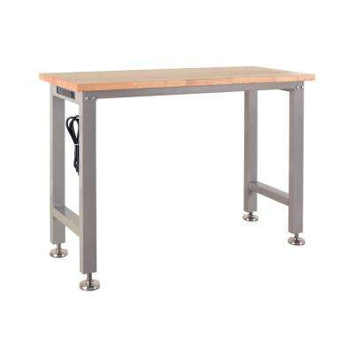 4 Ft. Rubber Wood Top Table Workbench