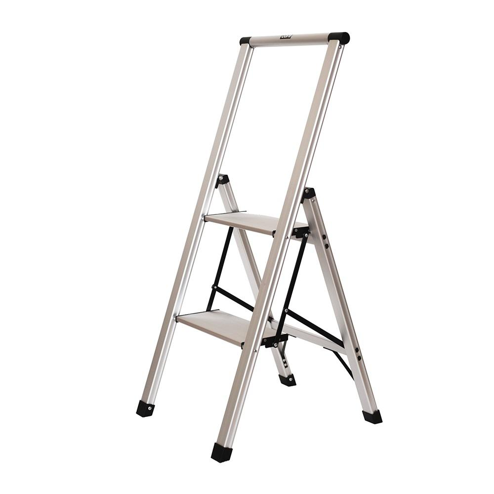 Miraculous Xtend And Climb 2 Step Slimline Aluminum Light Step Stool With 225 Lb Load Capacity Type 2 Duty Rating Squirreltailoven Fun Painted Chair Ideas Images Squirreltailovenorg