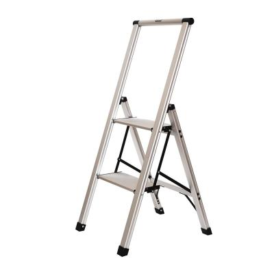 2-Step Slimline Aluminum Light Step Stool with 225 lb. Load Capacity Type 2 Duty Rating