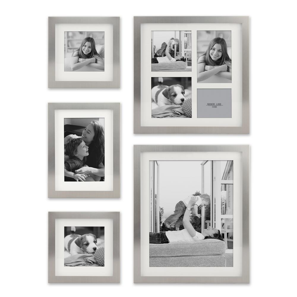 Wall frames wall decor the home depot 4 in x 13 in metal shadow box set of 5 jeuxipadfo Images