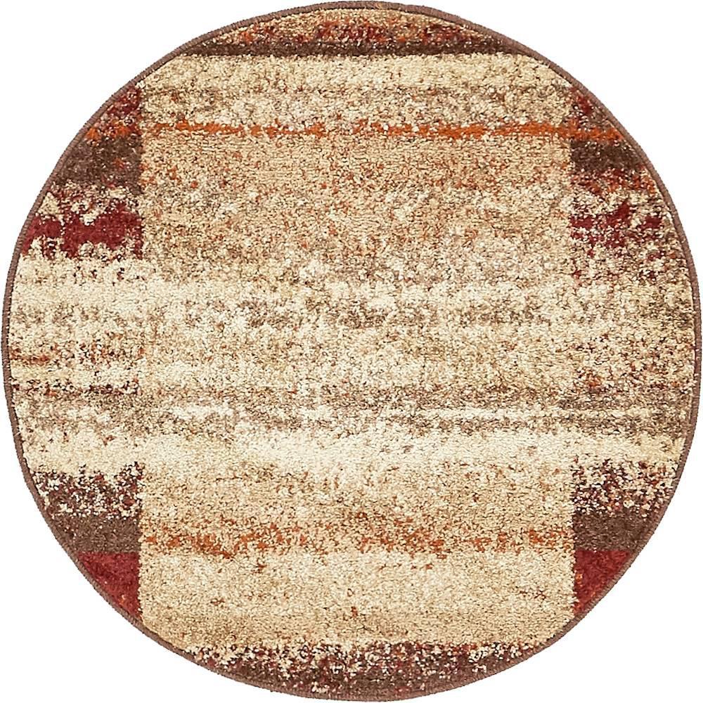 Autumn Maple Beige 3' 3 x 3' 3 Round Rug
