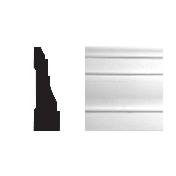 6591 11/16 in. x 2-1/4 in. x 96 in. PVC Composite White Casing Moulding
