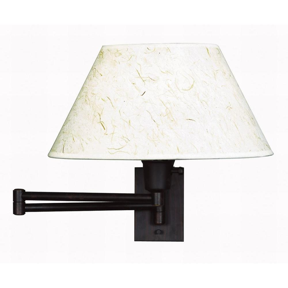 Kenroy Home Simplicity 13 in. Bronze Wall Swing Arm Lamp