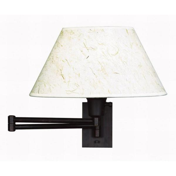 Simplicity 13 in. Bronze Wall Swing Arm Lamp