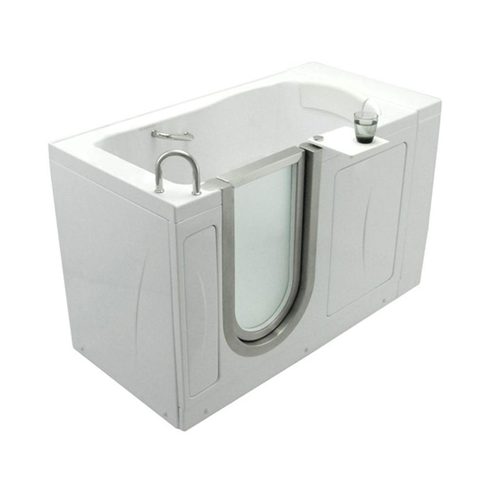 Ella Elite 4.33 ft. x 30 in. Acrylic Walk-In Soaking Bathtub in ...