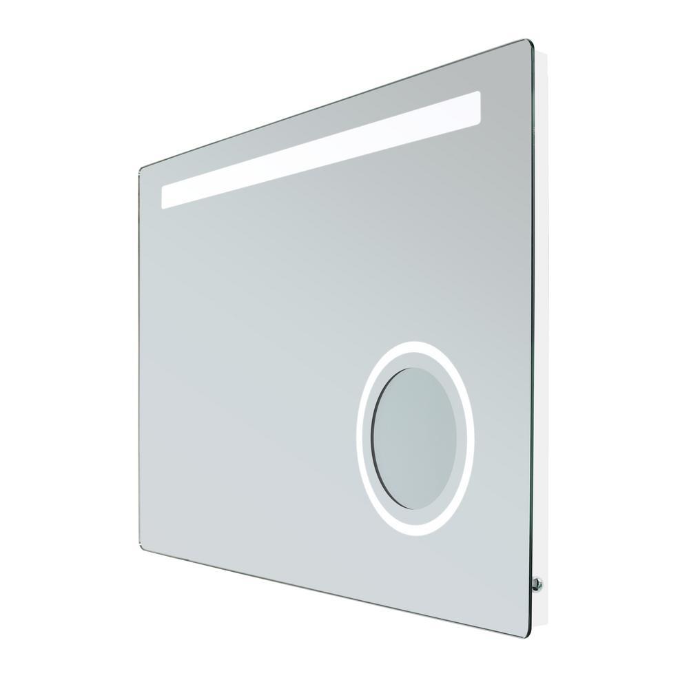 Rectangle 24 in. W x 36 in. H Frameless Rectangular LED Light Bathroom Vanity Mirror