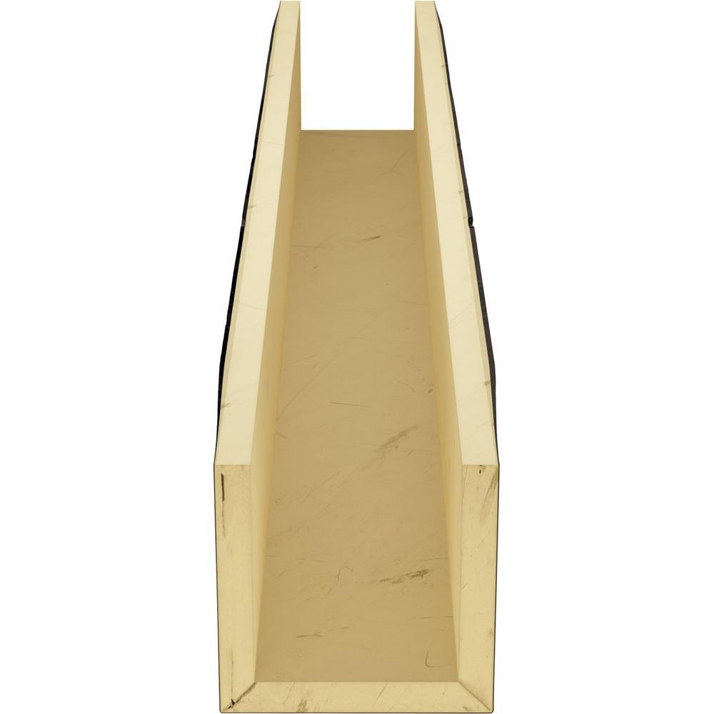 Ekena Millwork 4 In X 4 In X 8 Ft 3 Sided U Beam Knotty Pine Premium Walnut Faux Wood Ceiling Beam Bmkp3c0040x040x096zw The Home Depot