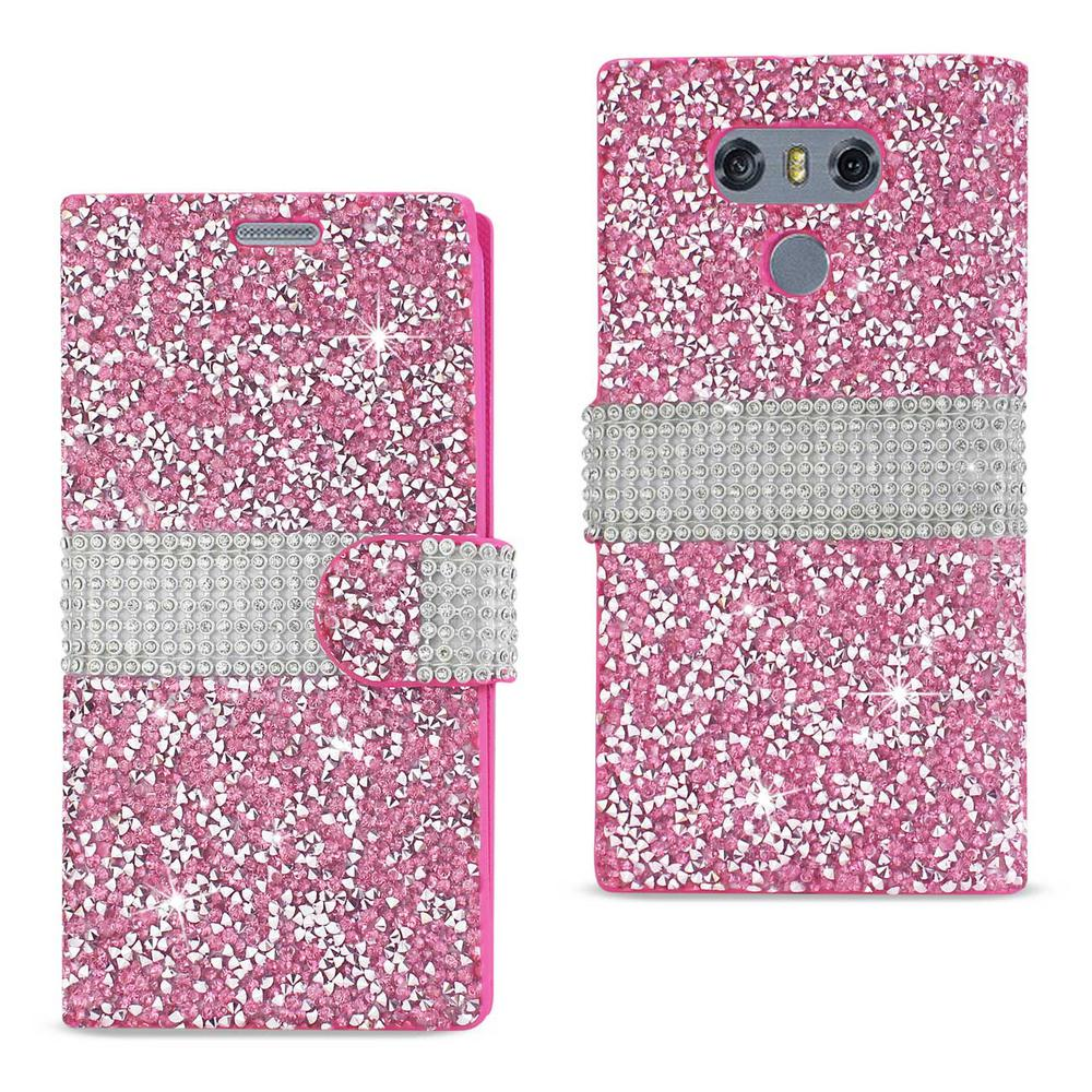 LG G6 Rhinestone Case in Pink