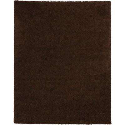 Shaggy Brown 9 ft. 3 in. x 12 ft. 6 in. Area Rug