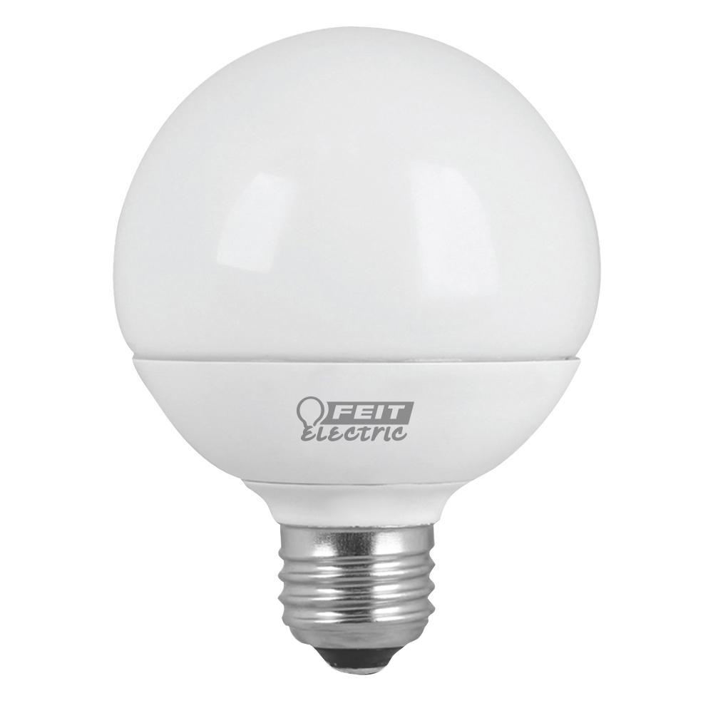 60w equivalent warm white 3000k g25 dimmable led frosted light bulb