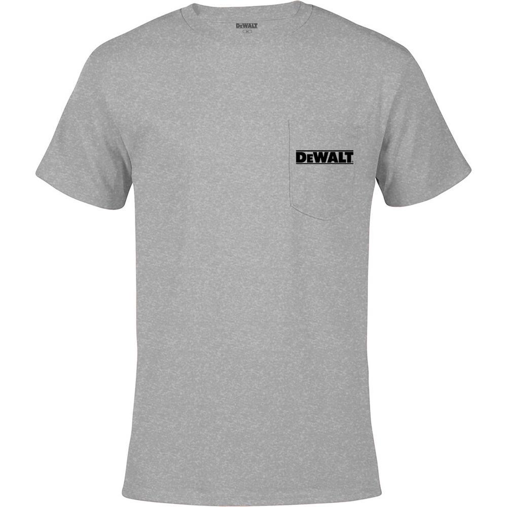 Magnum Men's Large Heather Grey Cotton Short Sleeve Pocket T-Shirt