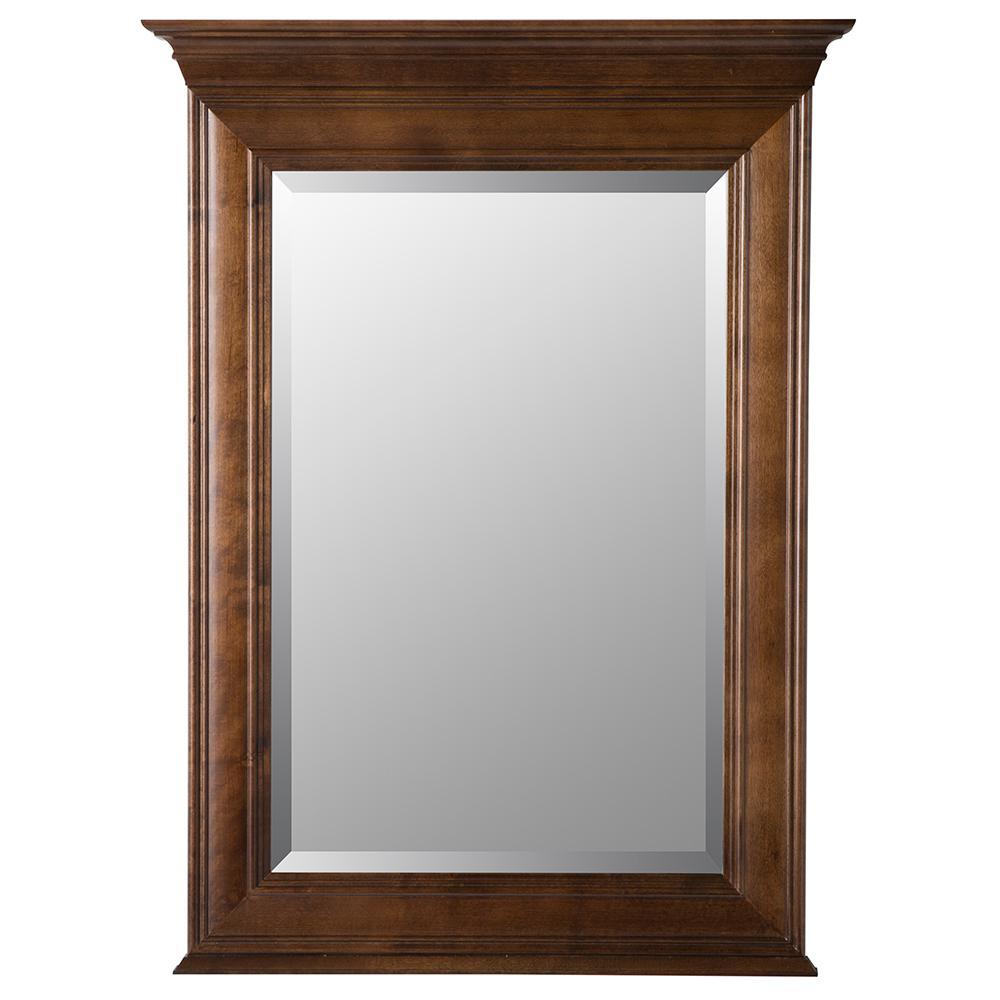 Templin 30 in. x 34 in. Framed Wall Mirror in Coffee