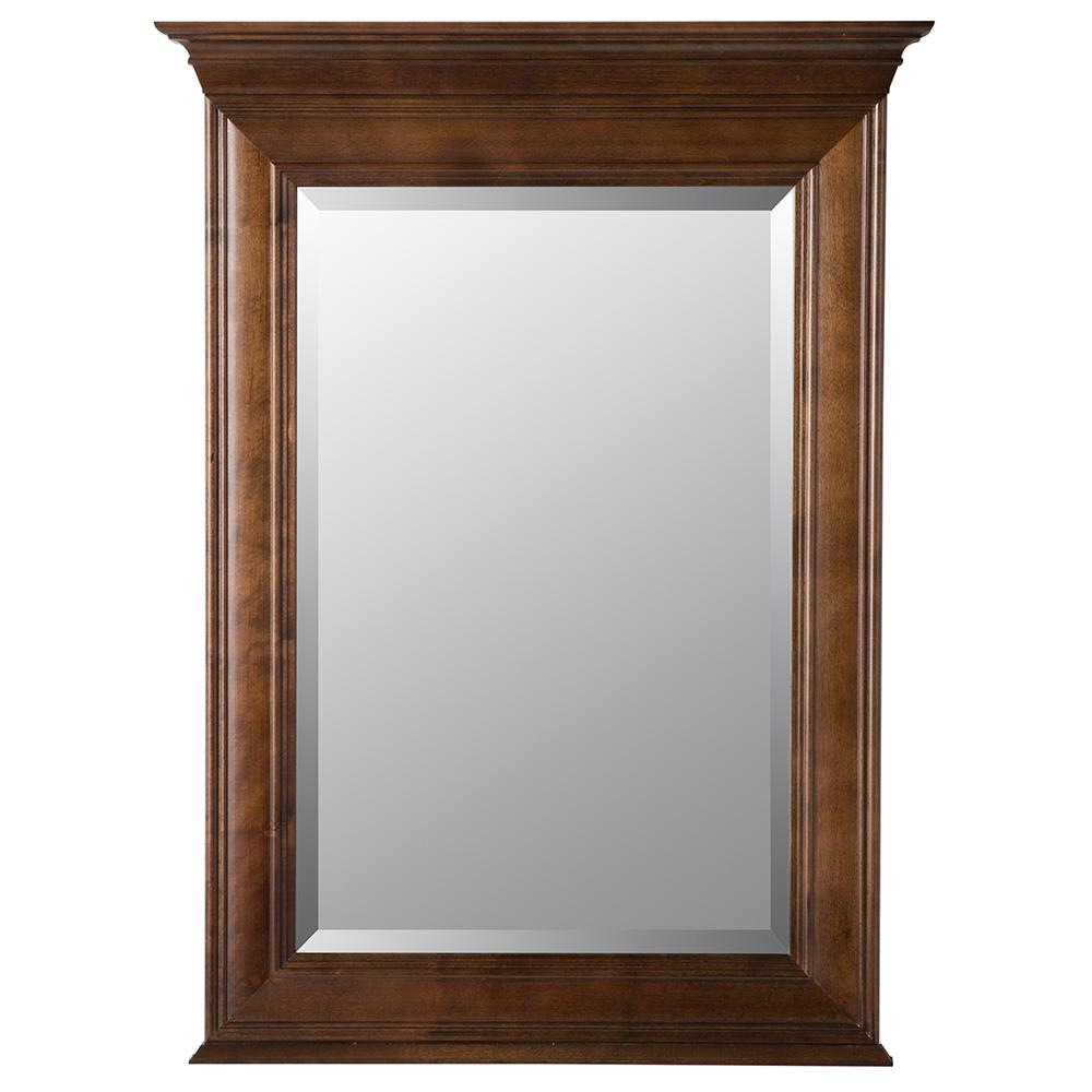 Templin 30 in. x 34 in. Framed Wall Mirror in Coffee