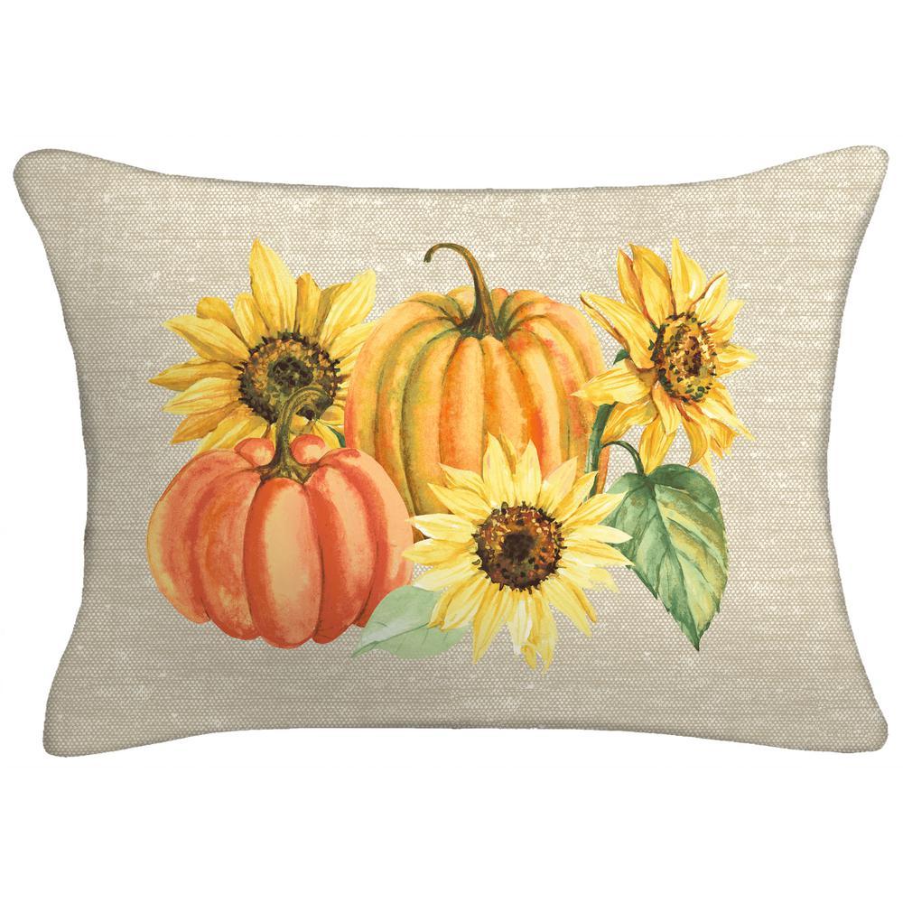 18 in. x 12 in. x 5 in. Harvest Lumbar Toss Pillow