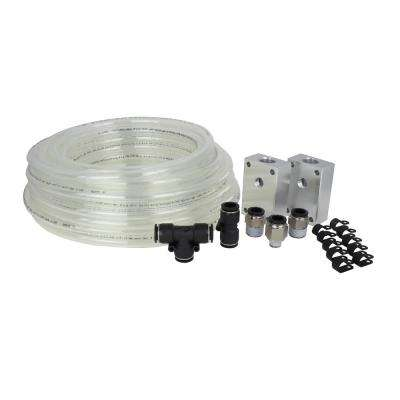 Home Garage/Shop Airline Piping System - 1/2 in OD (3/8 in ID) Pneumatic Accessory Fittings x 50 ft Air Hose (18-Piece)