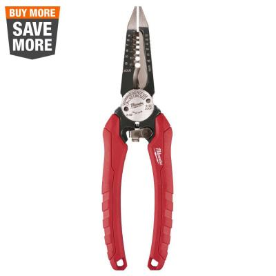7.75 in. Combination Electricians 6-in-1 Wire Strippers Pliers