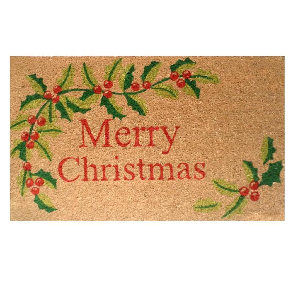 Home U0026 More Merry Christmas 17 In. X 29 In. Coir Door Mat