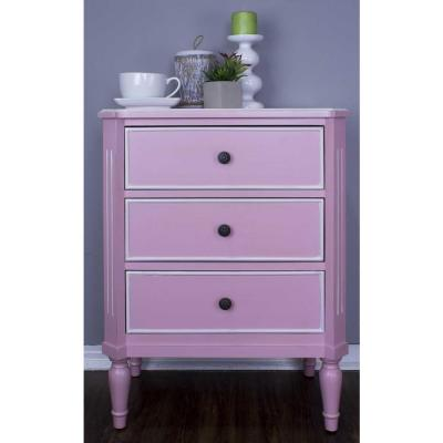Shelly Pink Wood Cabinet with a Drawers