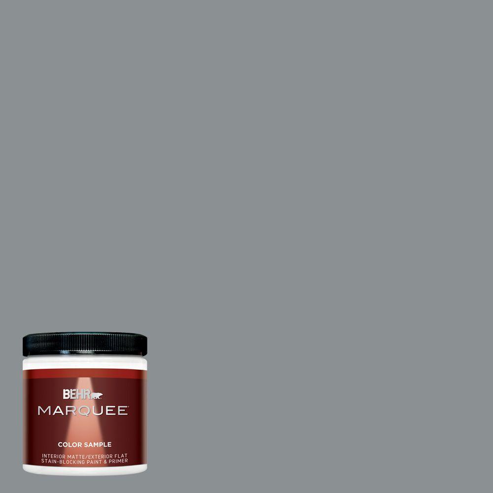 BEHR MARQUEE 8 Oz. #MQ5 29 Gotham Gray Matte Interior/Exterior Paint