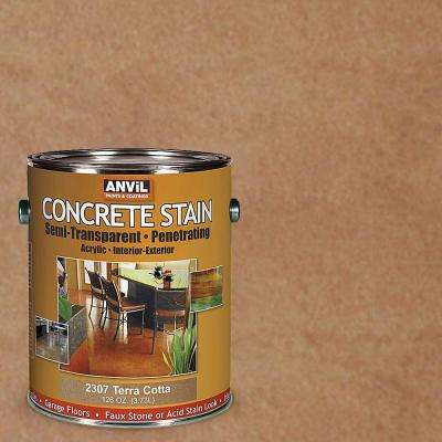 1-gal. Terra Cotta Semi-Transparent/Translucent Concrete Stain