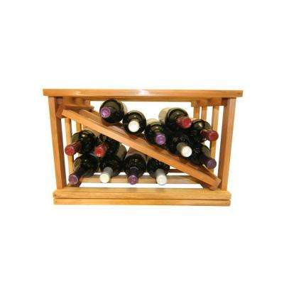 Mini Stack Series-Bin Storage Light Stain Wine Rack 11-15/16 in. H x 18-11/16 in. W x 13-1/2 in. D