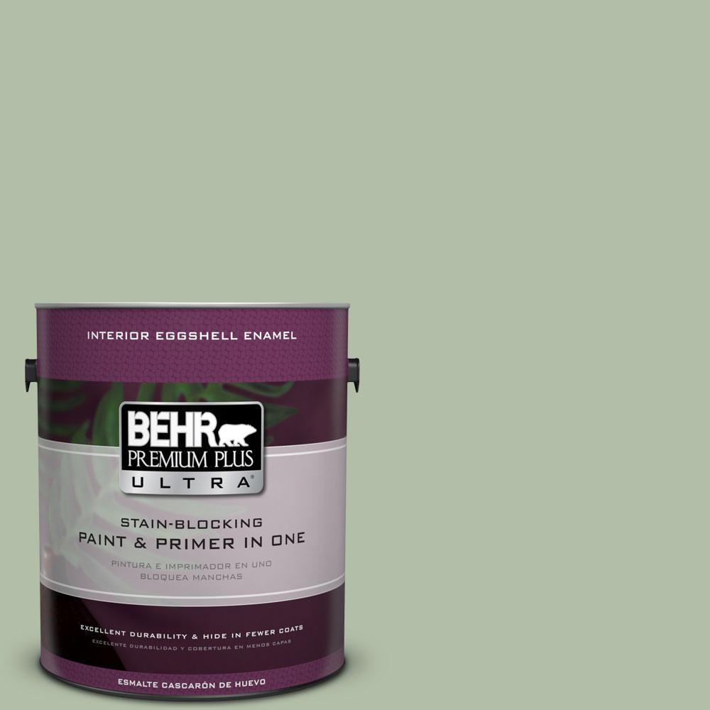 BEHR Premium Plus Ultra 1-gal. #S390-3 Creamy Spinach Eggshell Enamel Interior Paint