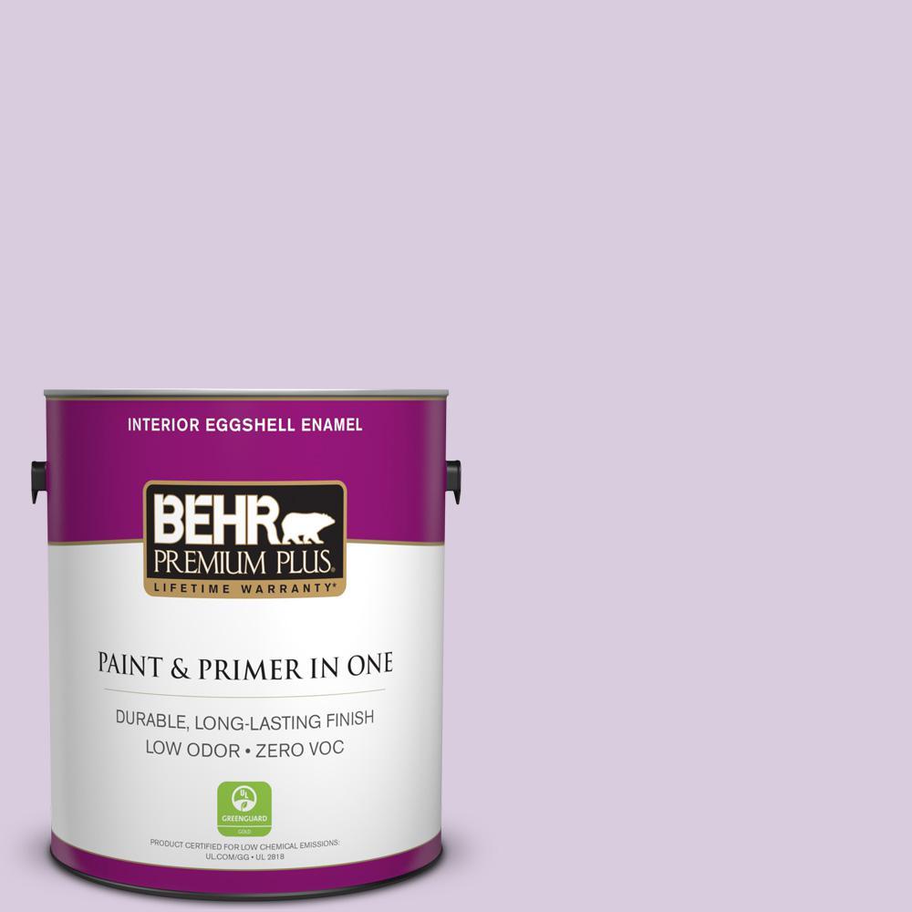BEHR Premium Plus 1-gal. #660C-2 Violet Mist Zero VOC Eggshell Enamel Interior Paint