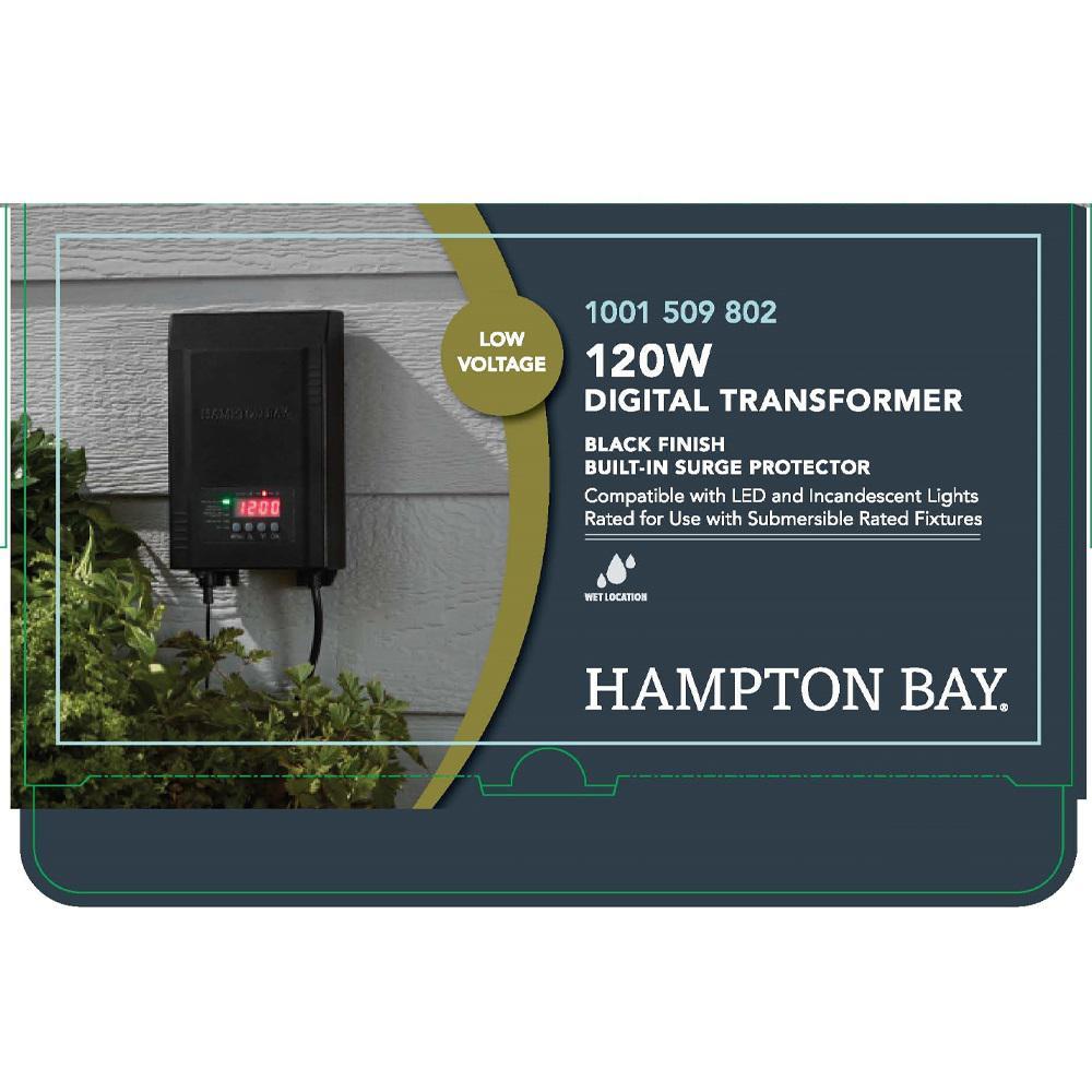 Hampton Bay Low Voltage 120 Watt Landscape Transformer Sl 120 12a The Home Depot