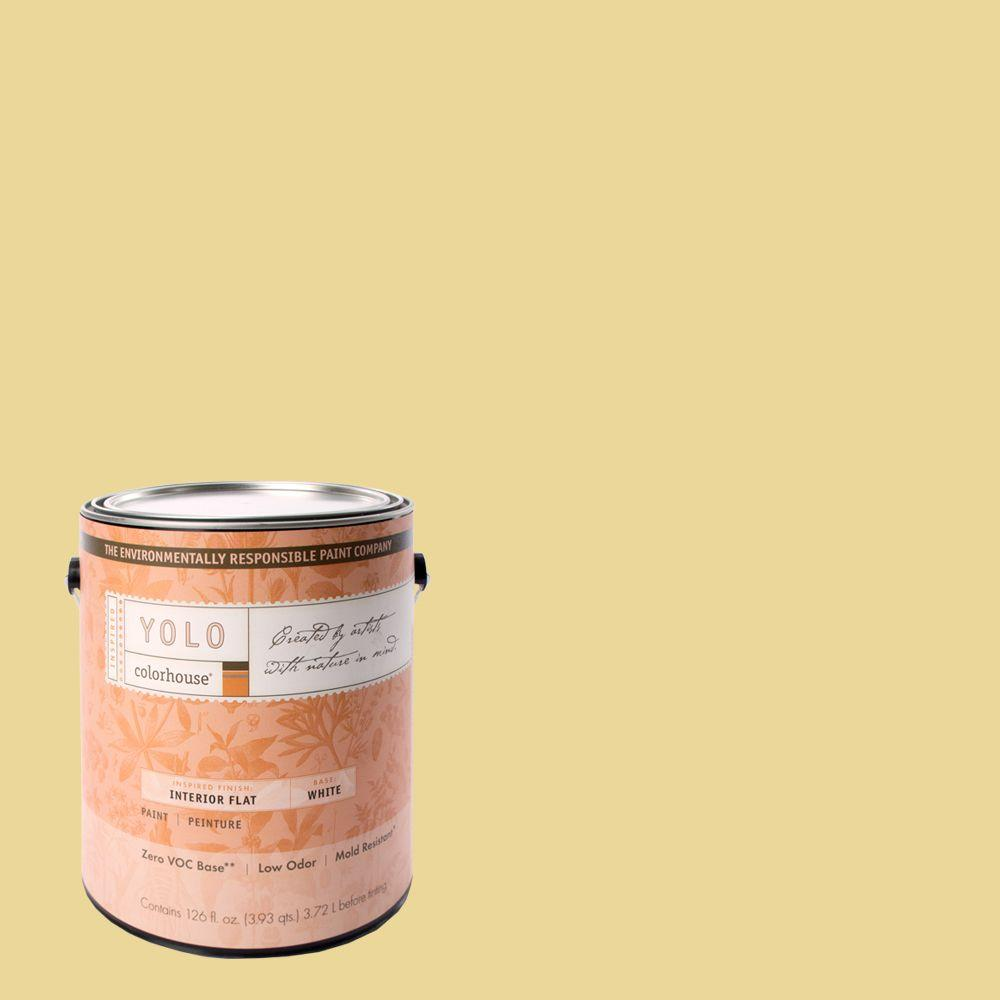 YOLO Colorhouse 1-gal. Beeswax .01 Flat Interior Paint-DISCONTINUED