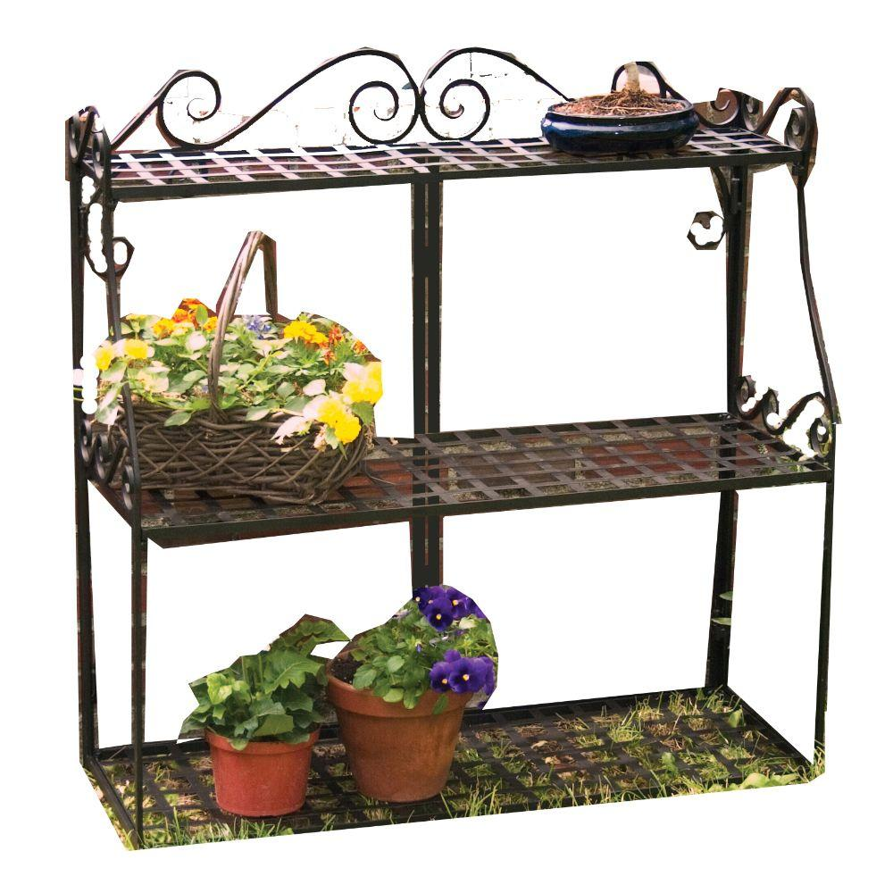 3 tier plant stand panacea forged metal 3 tier plant stand 89193 the home depot 10442