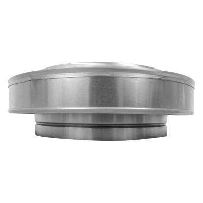 12 in. Dia. Aluminum Vent Pipe Cap in Mill Finish