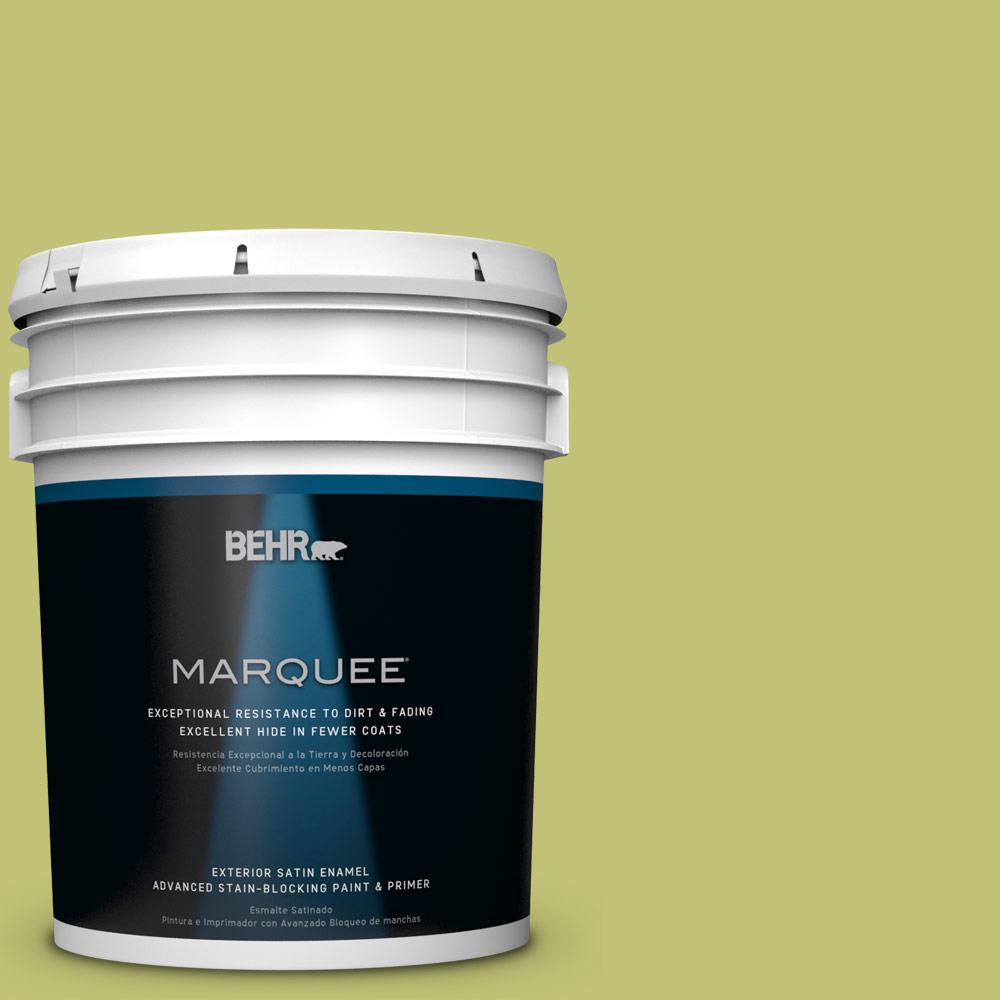 BEHR MARQUEE 5-gal. #PPU9-7 Fresh Sprout Satin Enamel Exterior Paint