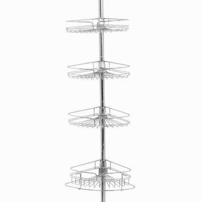 4-Tier Metal Pole Caddy in Chrome