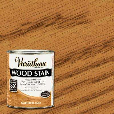 1 qt. 3X Summer Oak Premium Wood Interior Stain (Case of 2)
