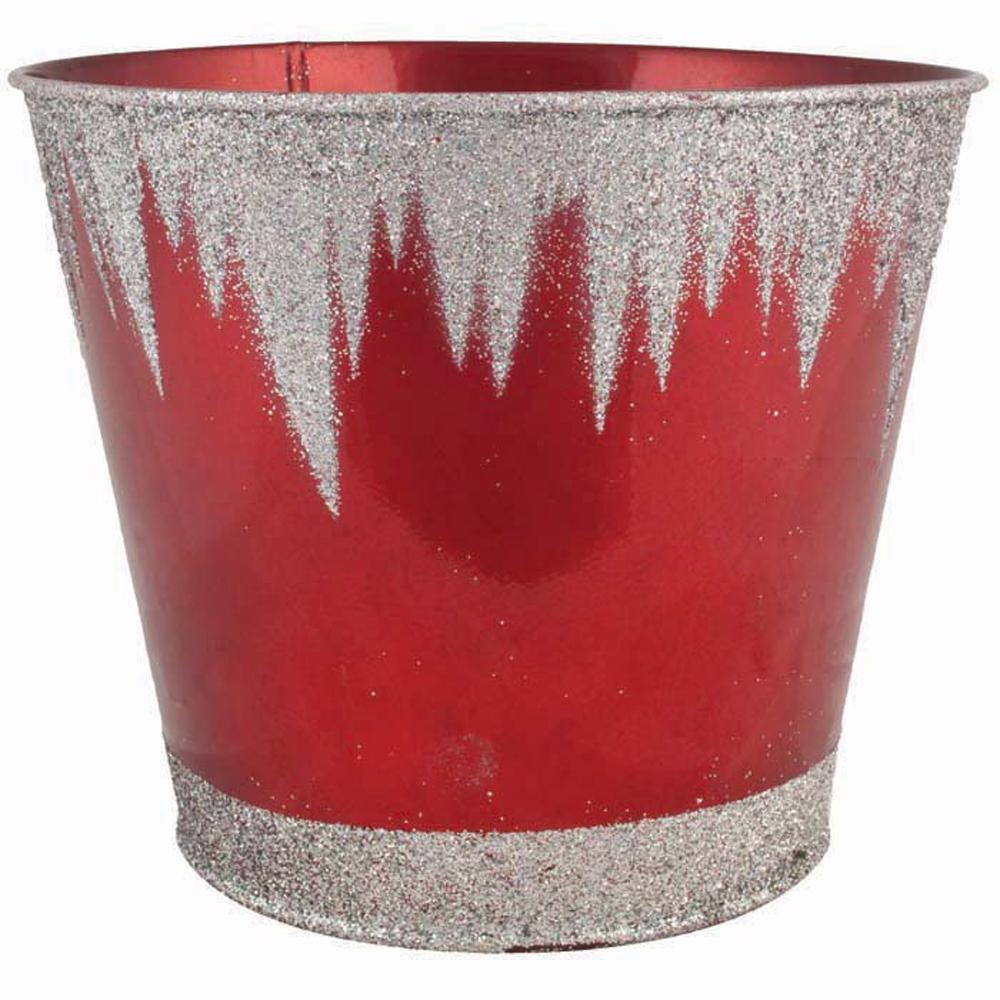 Frozen 7 in. Dia. Red Tin Pot