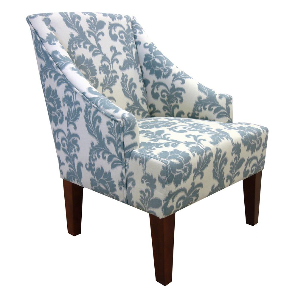 Armen Living Ikat Brown Fabric Accent Chair