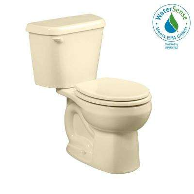 Colony 2-Piece 1.28 GPF Single Flush Round Toilet in Bone, Seat Not Included